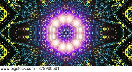 Purple Supernova Light Abstract Ancient Geometric With Star Field And Colorful Galaxy Background, Wa
