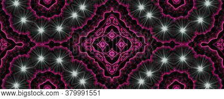 Purple With White Supernova Lights Abstract Ancient Geometric With Star Field And Colorful Galaxy Ba