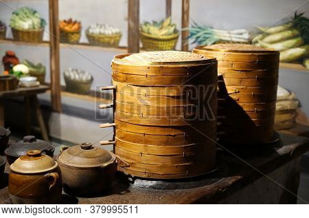 Close Up On A Ancient Chinese Kitchen