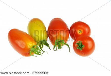Close Up On Fresh Tomato Isolated On White Background
