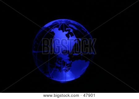 Globe In Blue Light