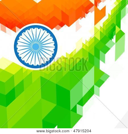 vector background of indian flag desgin