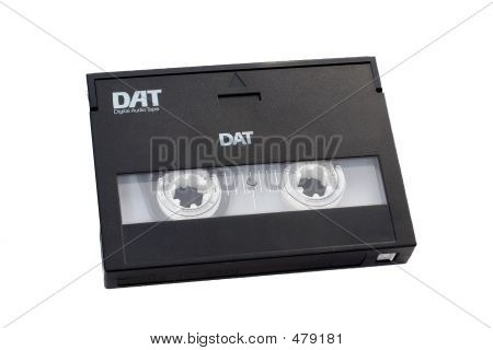 Digital Audio Tape Dat With Clipping Path Included.