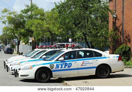 NYPD cars in Brooklyn, NY