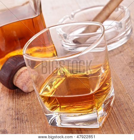 whisky and cigar