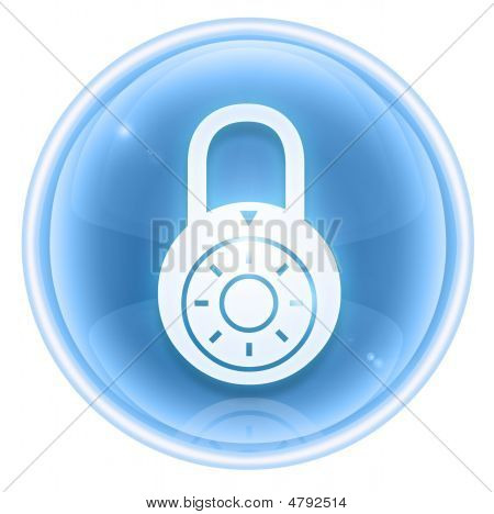 Lock Off, Icon Ice, Isolated On White Background.