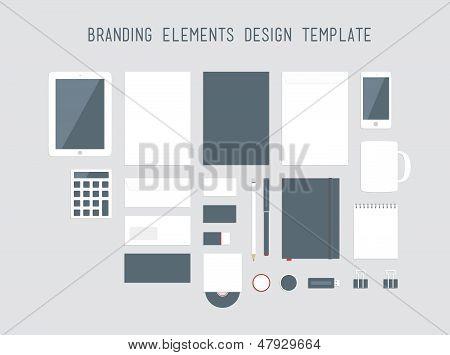 Branding Design Elements Vector Set
