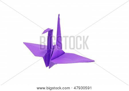 Origami Bird Isolated On White Background
