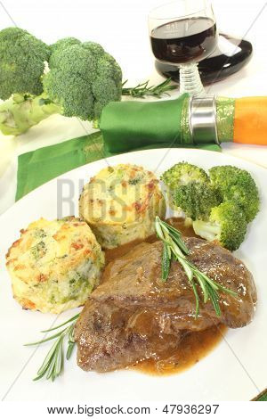Venison Medallions With Potato Gratin And Rosemary