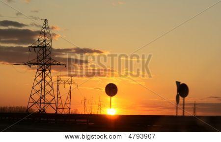 Industrial Evening Glow