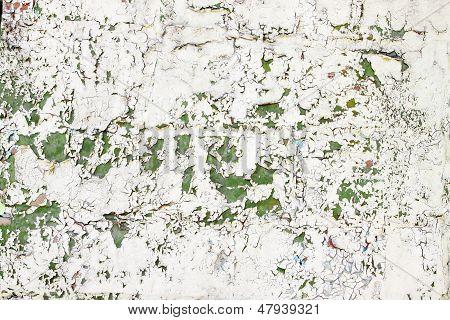 Cracked Beige, Green Paint