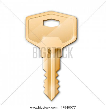 Golden key. Real estate concept.Vector illustration