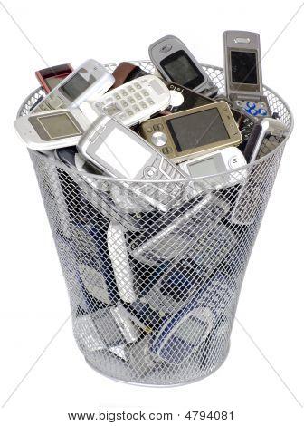 Vieux téléphones cellulaires
