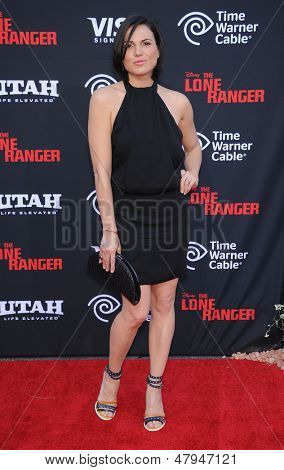 LOS ANGELES - JUN 22:  Lana Parrilla arrives to the 'The Lone Ranger' Hollywood Premiere  on June 22, 2013 in Hollywood, CA