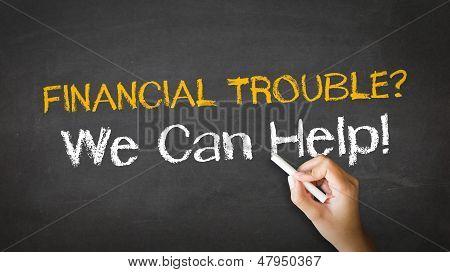 Ilustração de giz problemas financeiros