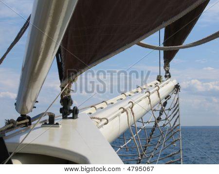 Schoener op zee
