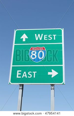 Interstate 80 Sign