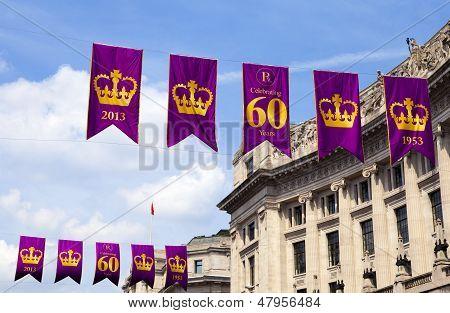 Royal Diamond Jubilee Banners In London