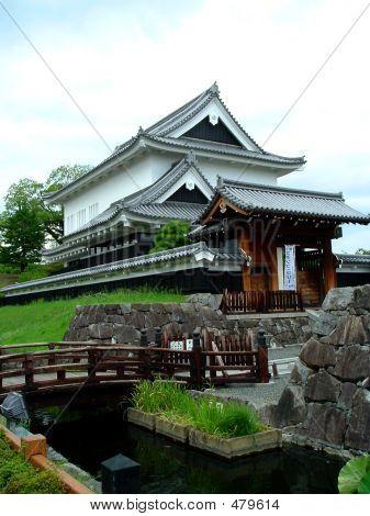 Japanese Castle Near Kyoto