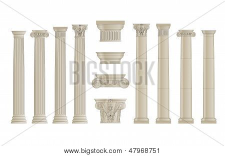 set of colums