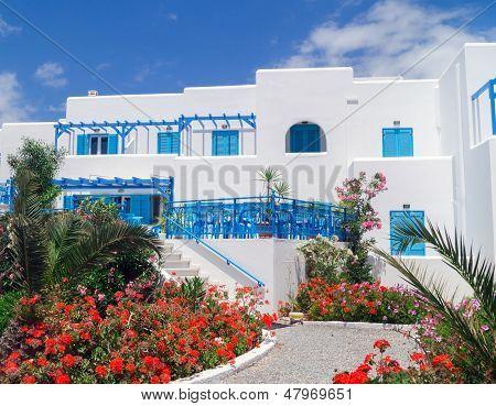 Traditional greek house on Mykonos island Greece poster