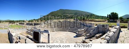 The Panorama Of Ruins In Ancient Messene (messinia), Peloponnes, Greece