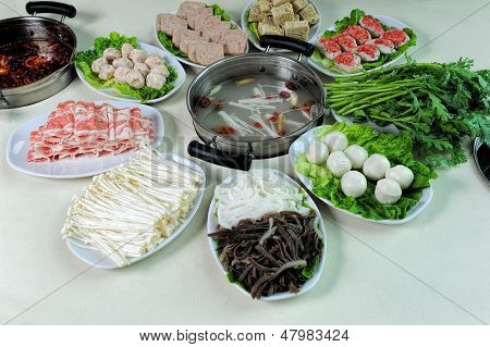 prepared and delicious Chinese chafing dish
