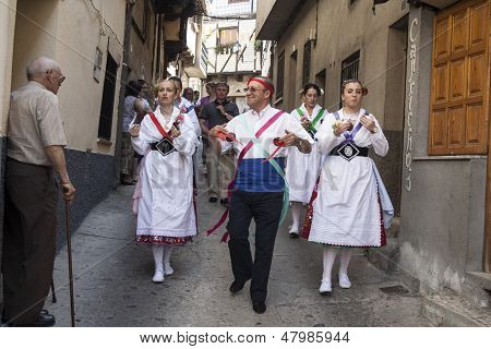 Garganta La Olla, Caceres, Extremadura, Spain, July 1, 2013. The Dance Las Italianas
