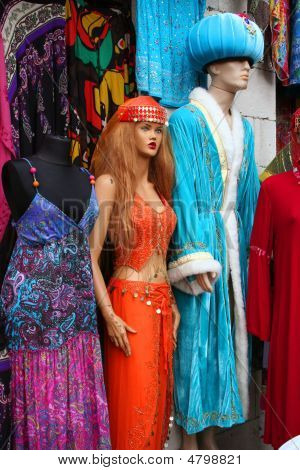 Caftans And Costumes At A Touristic Bazaar