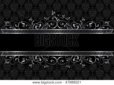 Black background with frame