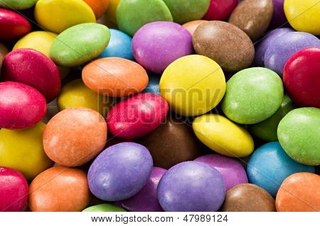 Background Of Colourful Smarties