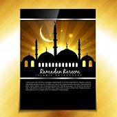 stylish muslim festival ramadan kareem background poster