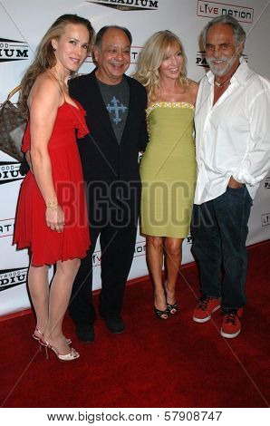 Cheech Marin and wife Patti with Shelby Chong and Tommy Chong  at the Grand Reopening of The Hollywood Palladium. Hollywood Palladium, Hollywood, CA. 10-15-08