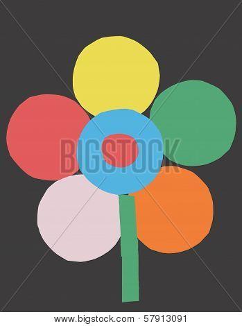 Multi-coloured Flower