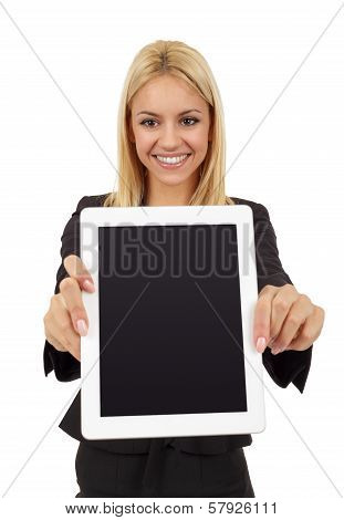 Businesswoman and Digital Tablet