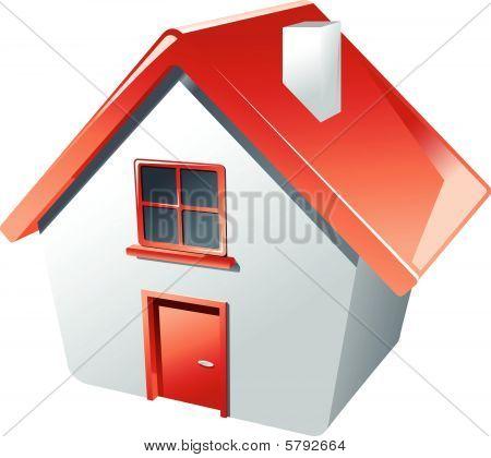 Huisje als een symbool van onroerend goed
