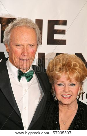 Clint Eastwood and Debbie Reynolds  at the Thalians 53rd Anniversary Ball, honoring Clint Eastwood, to benefit  Cedars-Sinai Medical Center, Beverly Hilton Hotel, Beverly Hills, CA. 11-02-08