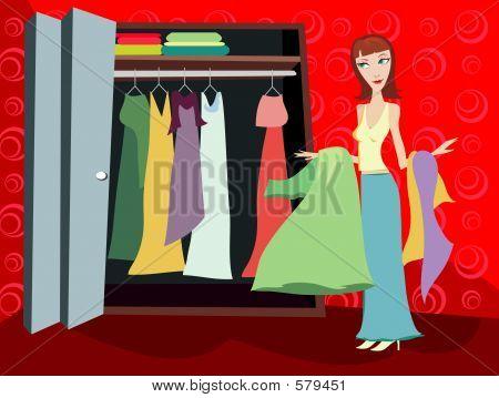 Closet Of Clothes - Brunette