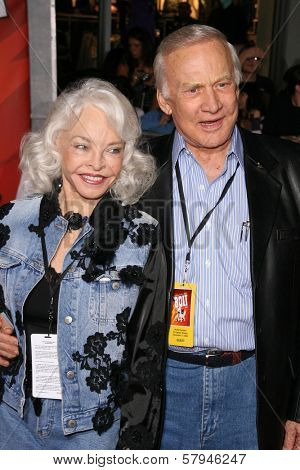 Buzz Aldrin and wife Lois  at the World Premiere of 'Bolt'. El Capitan Theatre, Hollywood, CA. 11-17-08