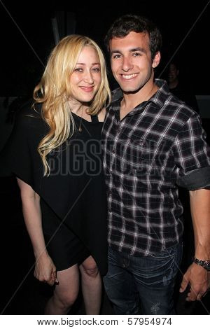 Jennifer Blanc, Matthew Ziff at the wrap party for the upcoming