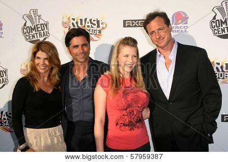 Lori Loughlin and John Stamos with Jodie Sweetin and Bob Saget  at the