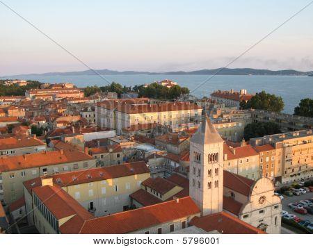 Old City Of Zadar, Adriatic Coast, Croatia, Aerial View