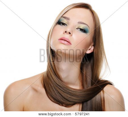 Portrait Of Sensuality Pretty Girl