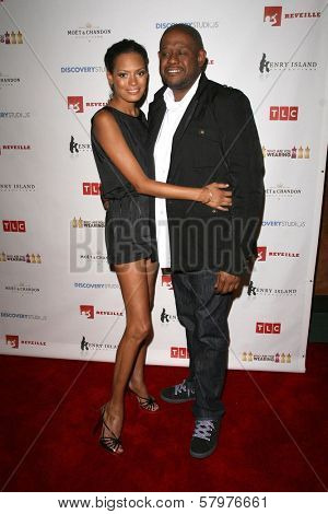 Keisha Whitaker and Forest Whitaker  at a Private Premiere Party for TLC's 'Who Are You Wearing'. Stork, Hollywood, CA. 08-22-08