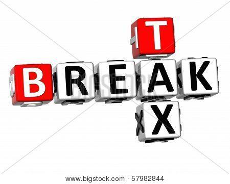 3D Break Tax Crossword