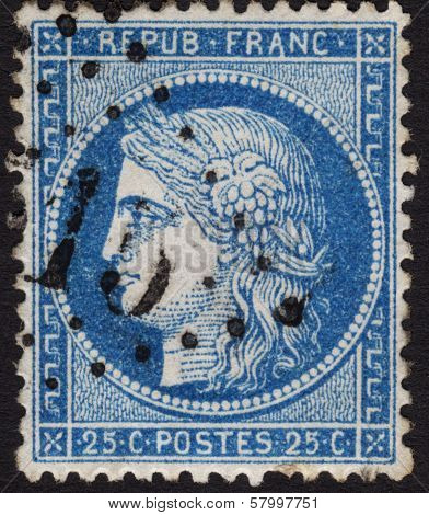 French Stamp Ca. 1870 In The Ceres Series