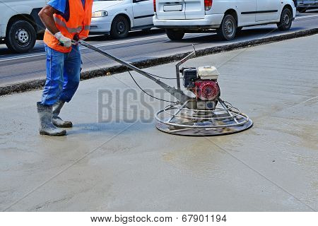 Helicopter Concrete Finishing