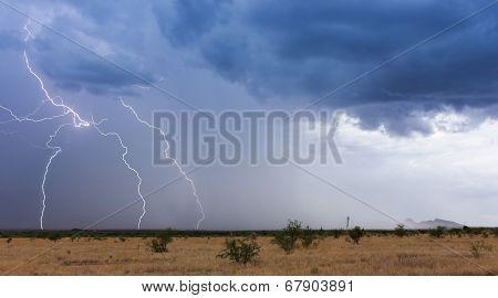 A Monsoon Storm Moves Across The Desert