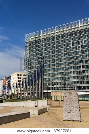 Berlaymont Building Of European Comission In Brussels