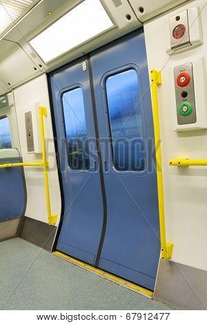 Closed Train Door